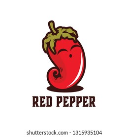 Hot chili pepper vector illustration cute expression