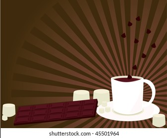Hot chocolate background 1- vector version