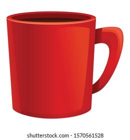 Hot chocolate mug icon. Cartoon of hot chocolate mug vector icon for web design isolated on white background