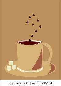 Hot chocolate mug - vector version