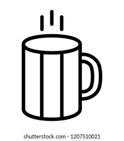 A hot coffee mug to drink coffee