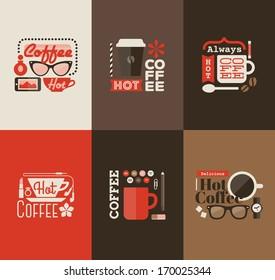Hot coffee. Set design elements