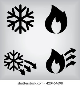 Hot And Cold Icons