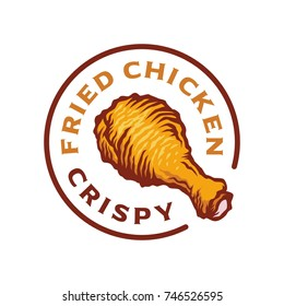 Hot Crispy Fried Chicken logo template