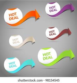 Hot Deal. Vector Illustration