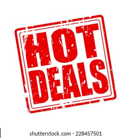 Hot deals red stamp text on white
