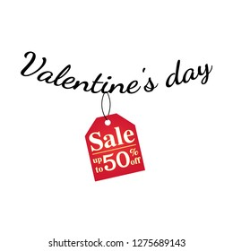Hot discount on Valentine's Day. Background. Wallpaper