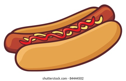 cartoon hot dog images stock photos vectors 10 off shutterstock rh shutterstock com hot dog clipart free hamburger and hotdog clipart free