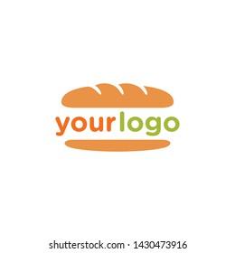 Hot Dog buns logo template