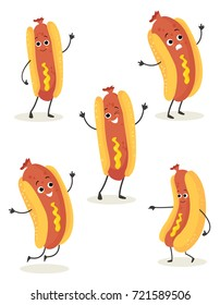 hot dog cartoon vector