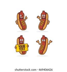 hot dog character cartoon
