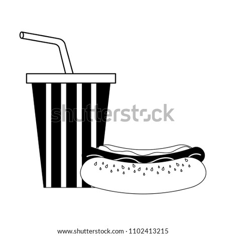 97362f859a58 Hot Dog Cola Cup American Flag Stock Vector (Royalty Free ...