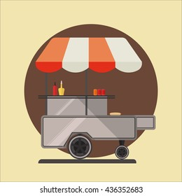 Hot dog ctreet car icon.