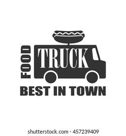 Hot Dog Food Truck Label Design