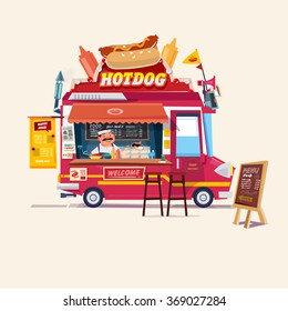 Food Cart Images, Stock Photos & Vectors | Shutterstock