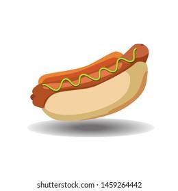 hot dog icon vector, vector hot dog illustration, eps 10