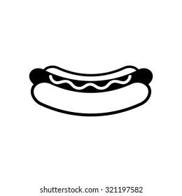 Hot Dog Icon, vector illustration