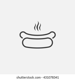hot dog line icon, outline vector logo illustration, linear pictogram isolated on white