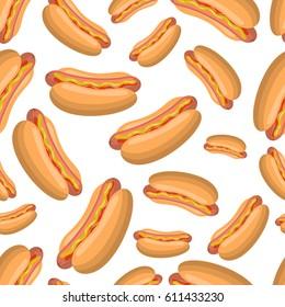 Hot Dog seamless pattern