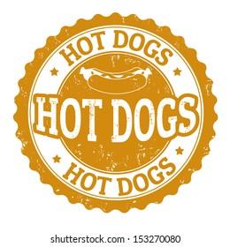Hot Dog vintage sign on white background, vector illustration