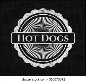 Hot Dogs chalkboard emblem