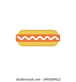 hot dogs glyph flat vector icon