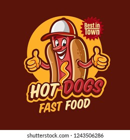 hot dogs logo for fast food