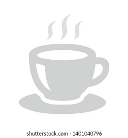 Hot drink cup vector icon. filled flat sign for mobile concept and web design. Cup of tea with steam glyph icon. Symbol, logo illustration. Pixel perfect vector graphics
