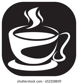 hot drinks icon black and white color