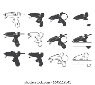 Hot glue gun sign symbol icon vector illustration