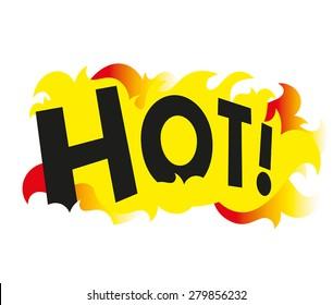 hot graphic logo icon