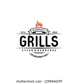 Hot Grill Logo Templates
