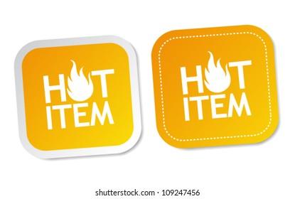 Hot item stickers