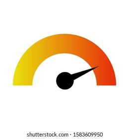 so hot meter. temperature display vector