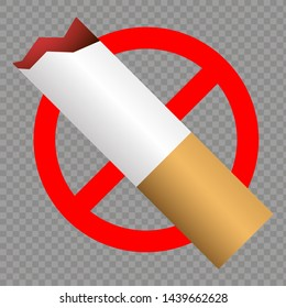 Hot No Smoking Icon. Vector
