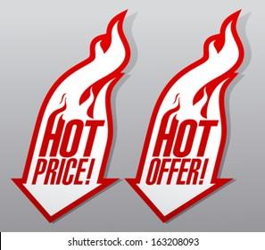 Hot offers fiery symbols.