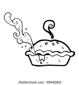 hot pie squirting juice cartoon