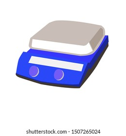 Hot plate magnetic stirrer icon. Hot plate is equipment in laboratory.