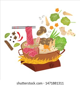 Hot pot is a chinese cuisine or as known also as shabu shabu in Japanese culinary