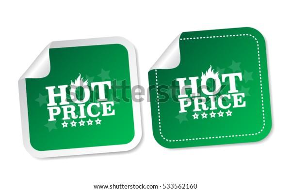 Hot price stickers