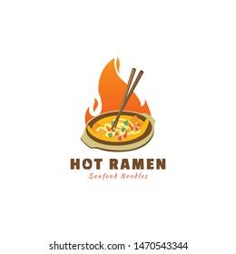 Hot Ramen logo for identical noodles