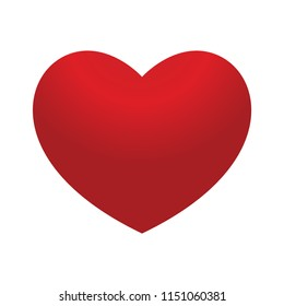 Hot Red  Heart Ballon Love