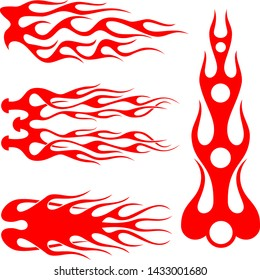 Hot rod flames, Flames Stickers, Flames decals, Fire Abstract Design