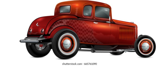 hot rod  fully editable and in layers