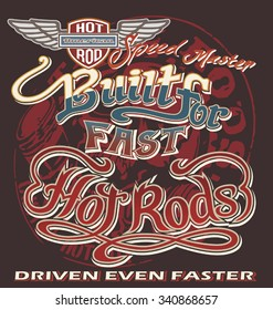 hot rod garage vector for T-shirt printed and poster