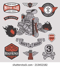Hot rod racer engine set