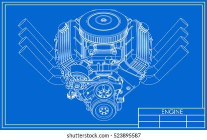 v8 engine images stock photos vectors shutterstock hot rod v8 engine drawing