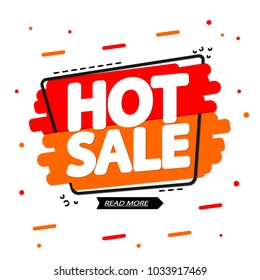 Hot Sale, banner design template, discount tag, app icon, vector illustration