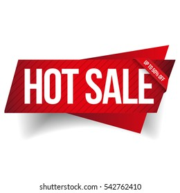 Hot Sale banner ribbon vector
