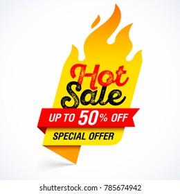 Hot Sale banner, special offer